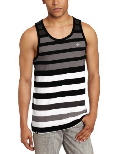 169fa3eed235a6 Amazon.com  Southpole Men s Tank Top With Engineered Stripes  Clothing   11.00