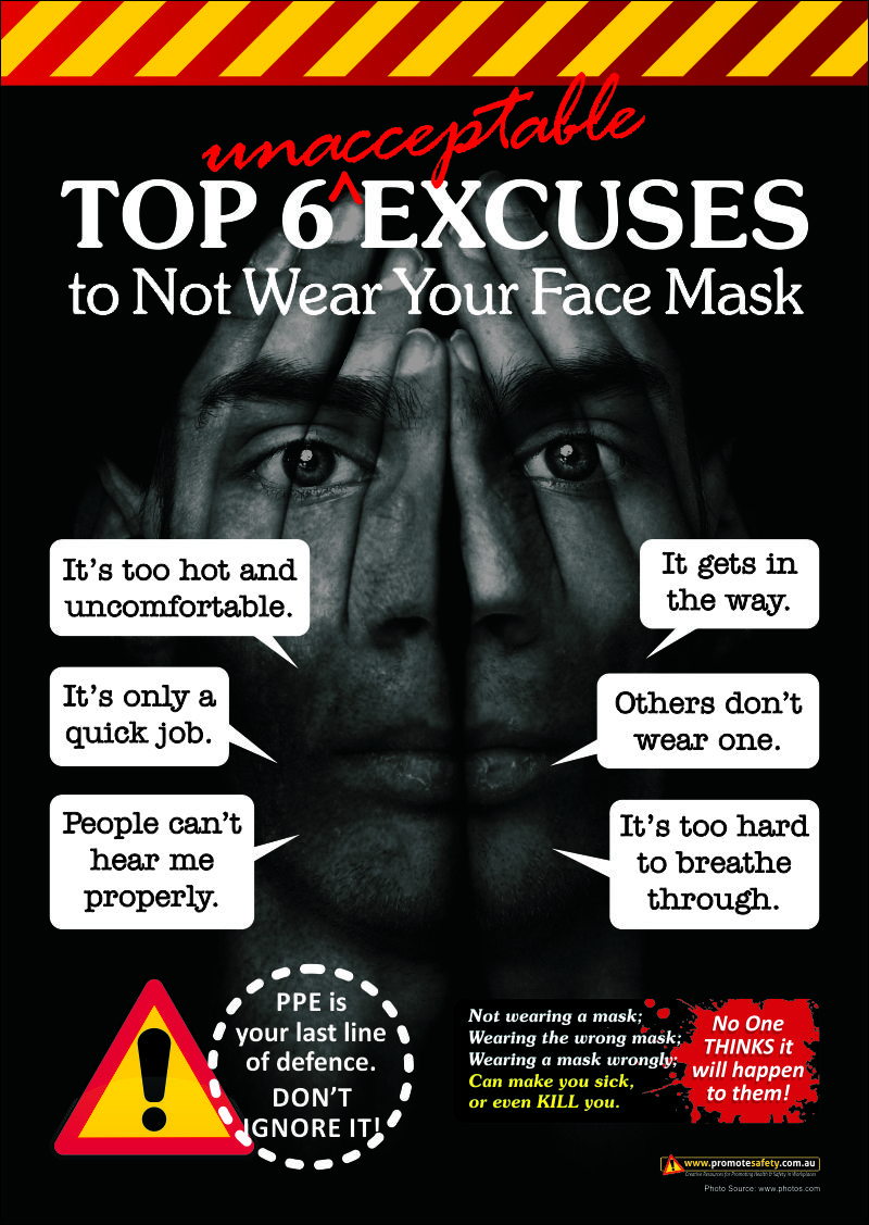 Workplace Safety Poster highlighting most common