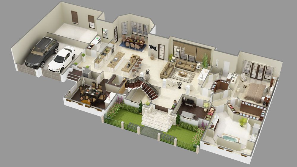 1st Floor 3d Model Image Of Elizabeth Court Floor Plan Design Luxury House Plans House Plans