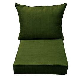 Amazing Replacement Patio Cushions Allen + Roth 46 1/2 In L X 25 In W Green Chair  Cushion