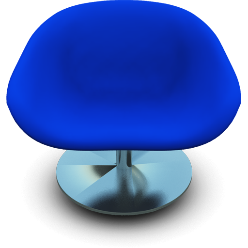 Blue Modern Chair Icon Png Clipart Image Iconbug Com Modern Chairs Chair Navy Blue Dining Chairs