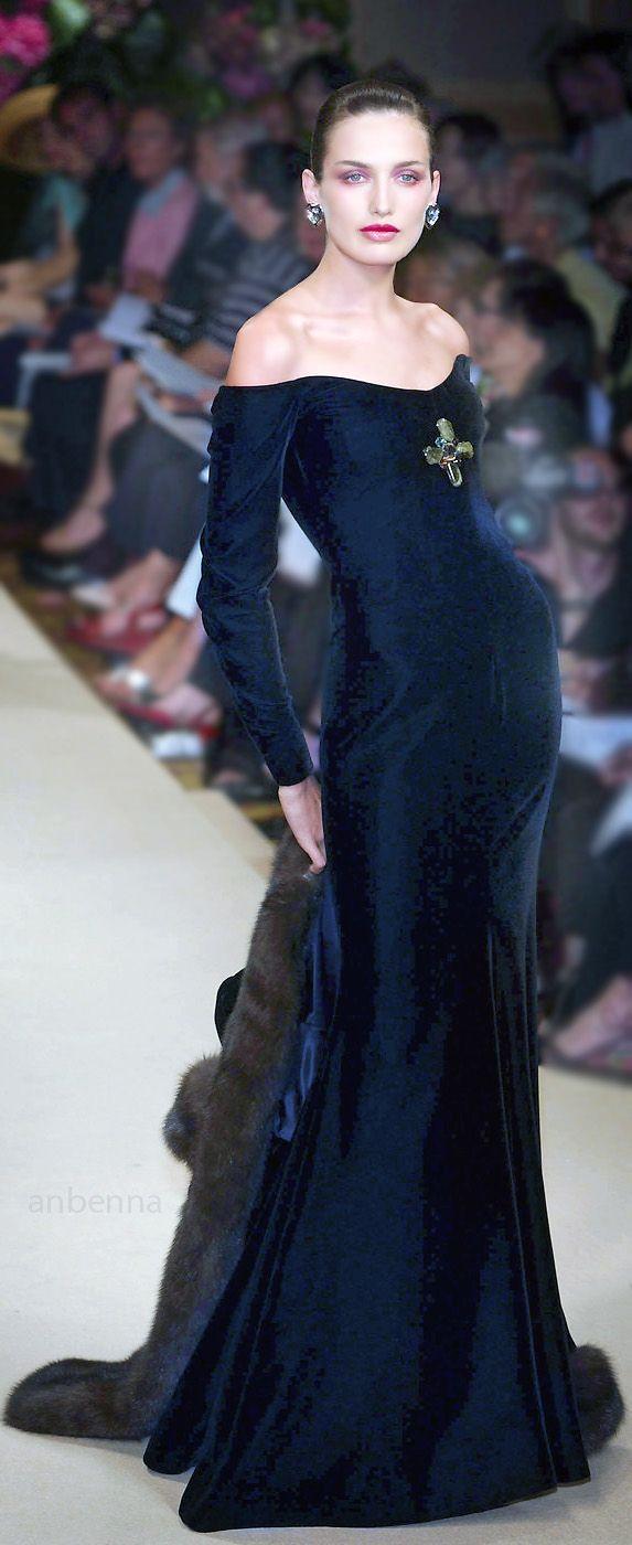Yves Saint Laurent blue gown | fashion | Pinterest | Yves saint ...