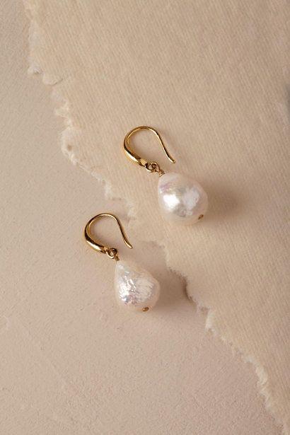 Gold Battista Pearl Earrings | BHLDN