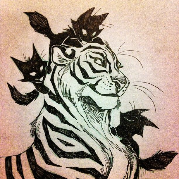 Арты тигров для срисовки