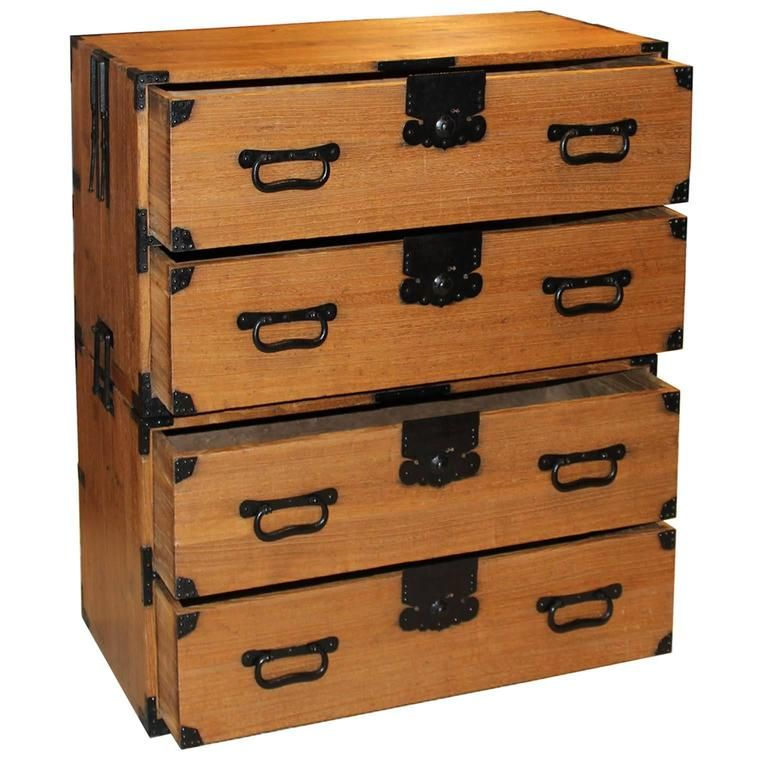 Japanese Four-Drawer Clothing Chest 3