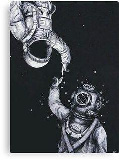 ASTRONAUTAS TUMBLR (COLLECTION) * MOONWALKERS Canv