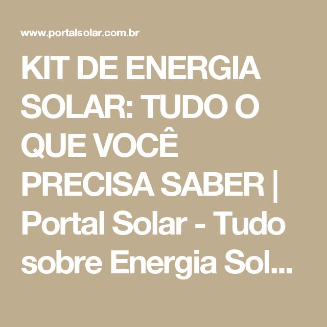faa36d4f728 KIT DE ENERGIA SOLAR  TUDO O QUE VOCÊ PRECISA SABER