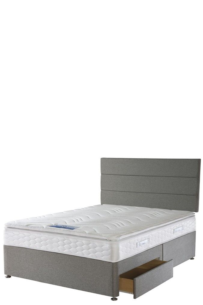 Sealy Comfort Pillow Top Mattress And Divan By Sealy -  Grey #pillowtopmattress