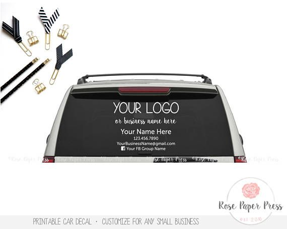 Printable Car Decal Stickers