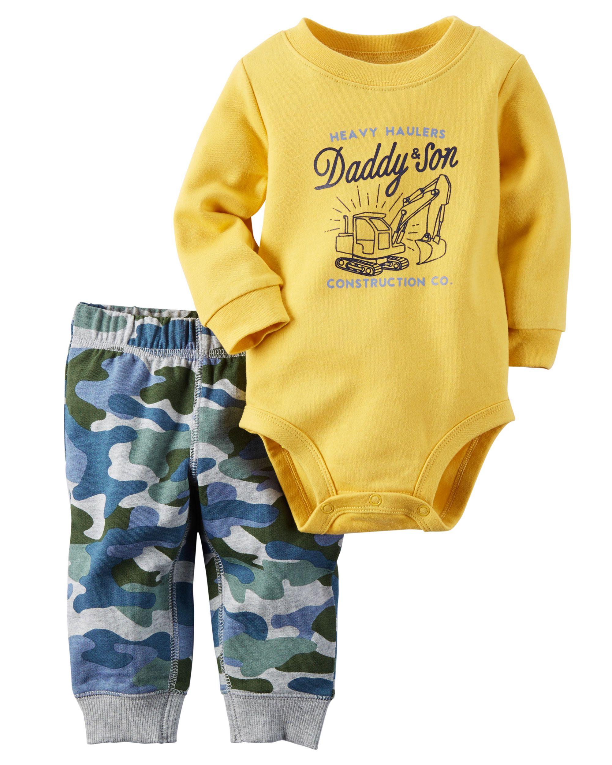 eeab114b8 Baby Boy 2-Piece Bodysuit   Pant Set