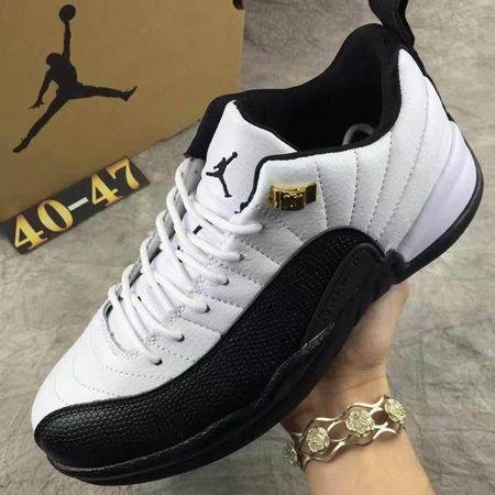 7a1e823bf0a99c Nike Air Jordan XII 12 Retro Low Men Basketball Shoes White Black ...