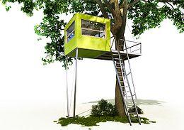 Modern Tree House For The Garden | Green Thumbs | Pinterest ... Modernes Baumhaus Pool Futuristisches Konzept
