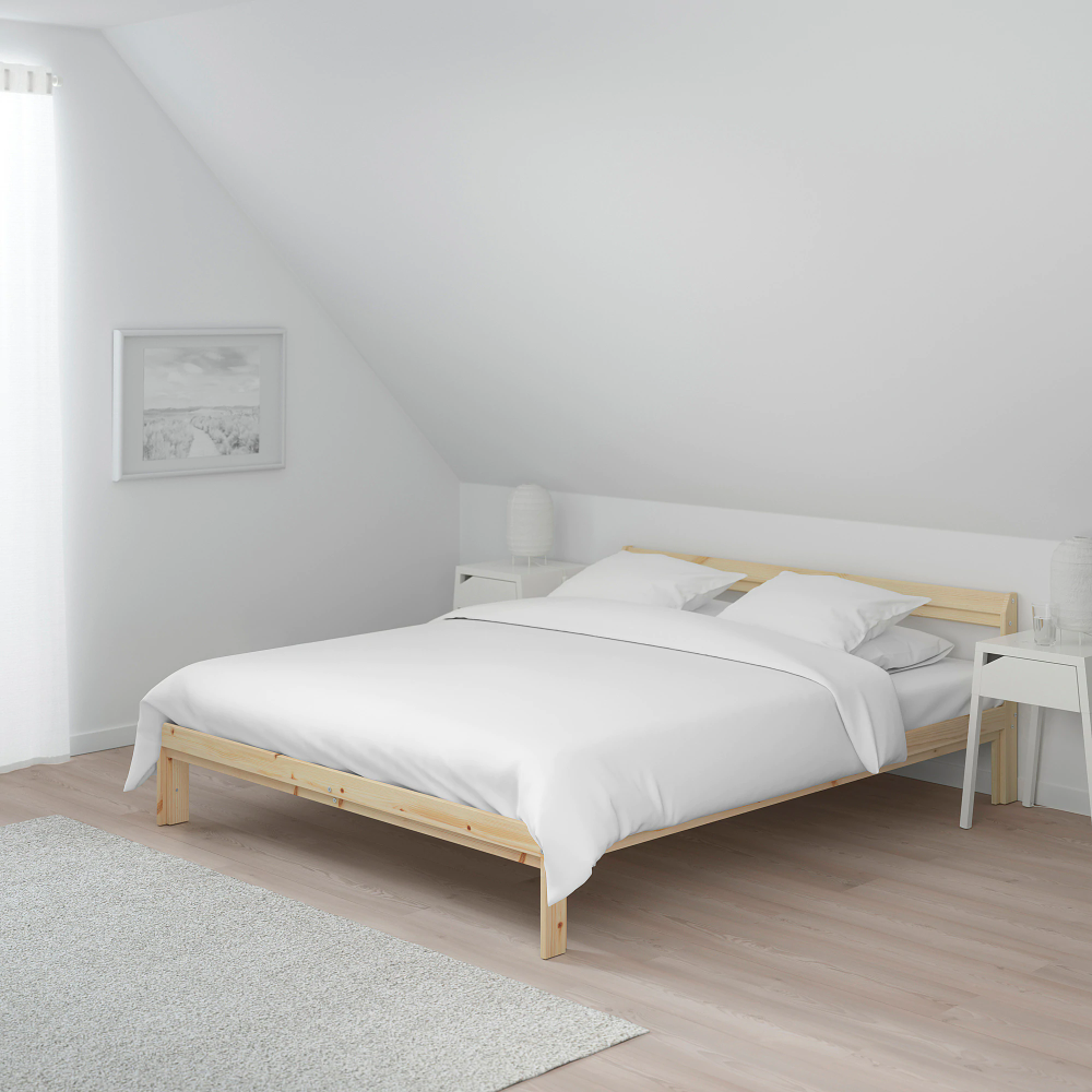 Neiden Cadre De Lit Pin 140x200 Cm Ikea In 2020 Bedkader Ikea Bed Tweepersoonsbedden