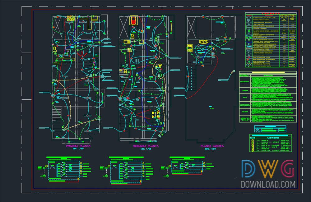 electrical plan cad wiring diagram t1 Electrical Print Reading