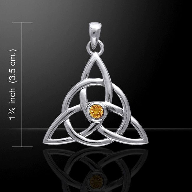 Celtic Knots .925 Sterling Silver Necklace Choice of Gemstone by Peter Stone