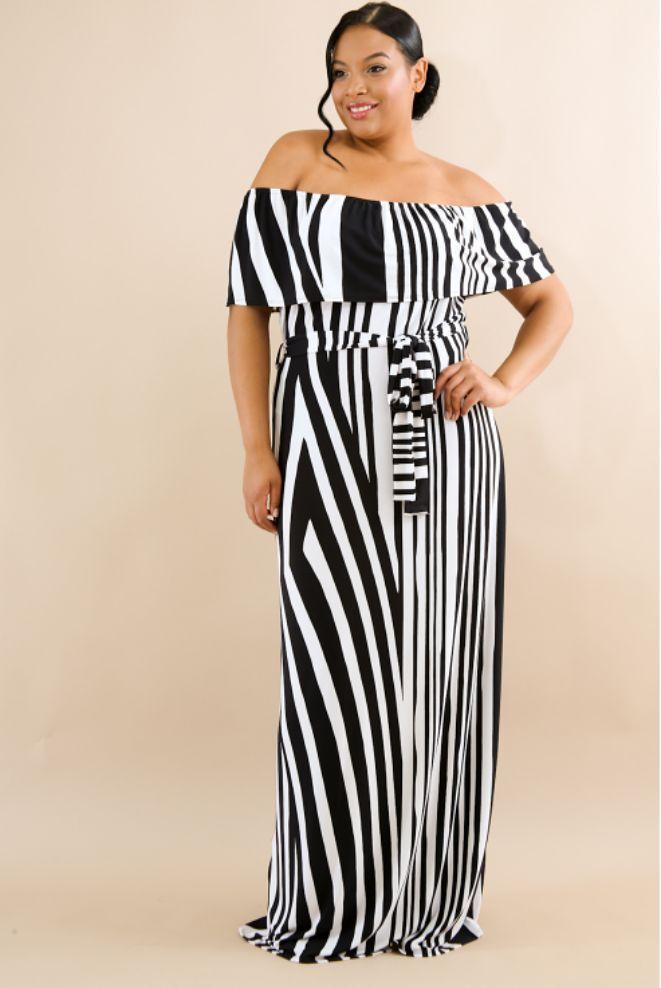 7d38a3baa8c Fine Print - Plus Size Maxi Dress