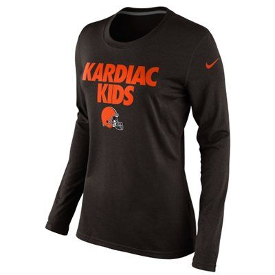 online store 04a10 bb512 Nike Cleveland Browns Ladies Kardiac Kids Local Long Sleeve ...