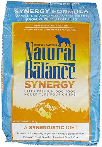 Natural Balance Synergy Ultra Premium Formula Dry Dog Food 26 Lb