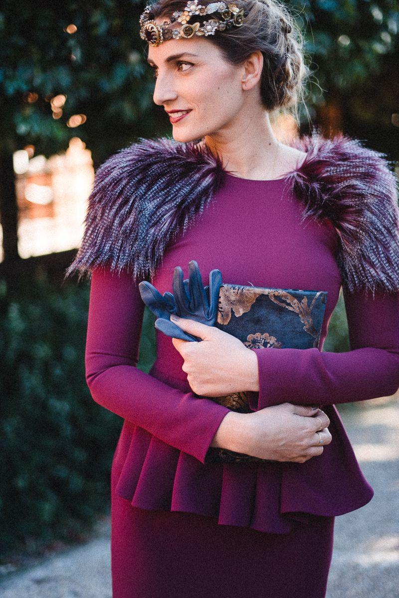 Look invitada de invierno: toque de piel | ropa bodas | Pinterest ...