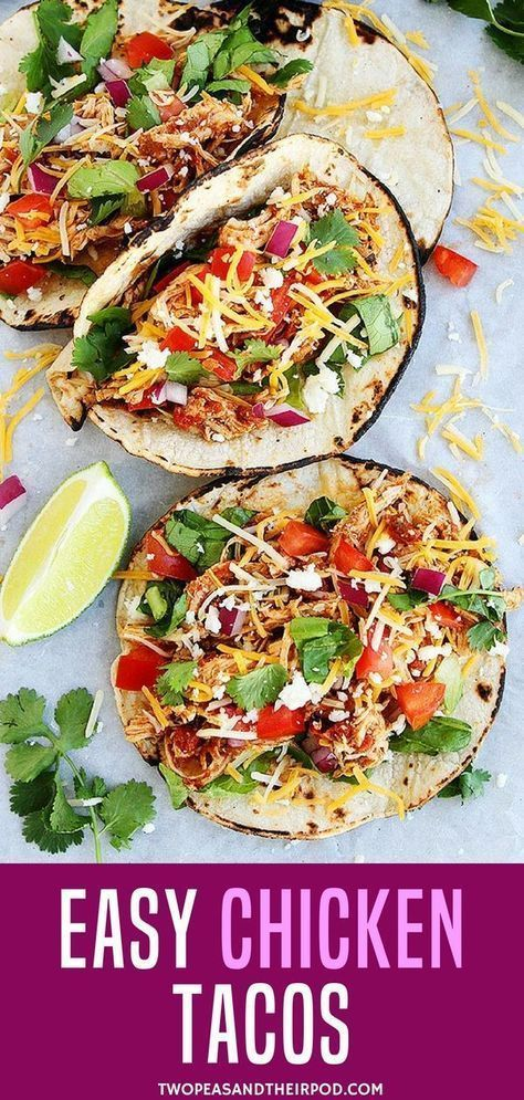 Looking for an easy weekend dinner recipe for the whole family? Try this Easy Chicken Tacos. Instant Pot Chicken Tacos Make A Great Weeknight Meal. They Are Easy To Make And A Family Favorite! Load These Easy Shredded Chicken Tacos Up With All Of Your Fav #shreddedchickentacos Looking for an easy weekend dinner recipe for the whole family? Try this Easy Chicken Tacos. Instant Pot Chicken Tacos Make A Great Weeknight Meal. They Are Easy To Make And A Family Favorite! Load These Easy Shredded Chic #shreddedchickentacos