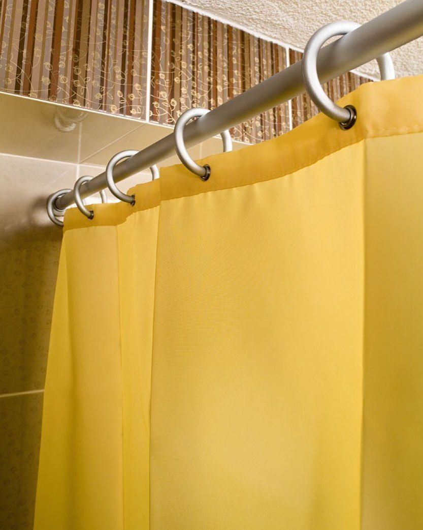 Teleskopstange Zum Praktischen Einklemmen Teleskop Duschvorhang Duschvorhangstange Badewanne Badezimmer Bad Dusc Basic Shower Curtain Decor Home Decor