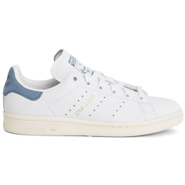 Adidas Stan Smith Shoe Found On Polyvore Featuring Shoes Sneakers Adidas Footwear Perforated Lea Adidas Shoes Stan Smith Stan Smith Shoes Blue Leather Shoes