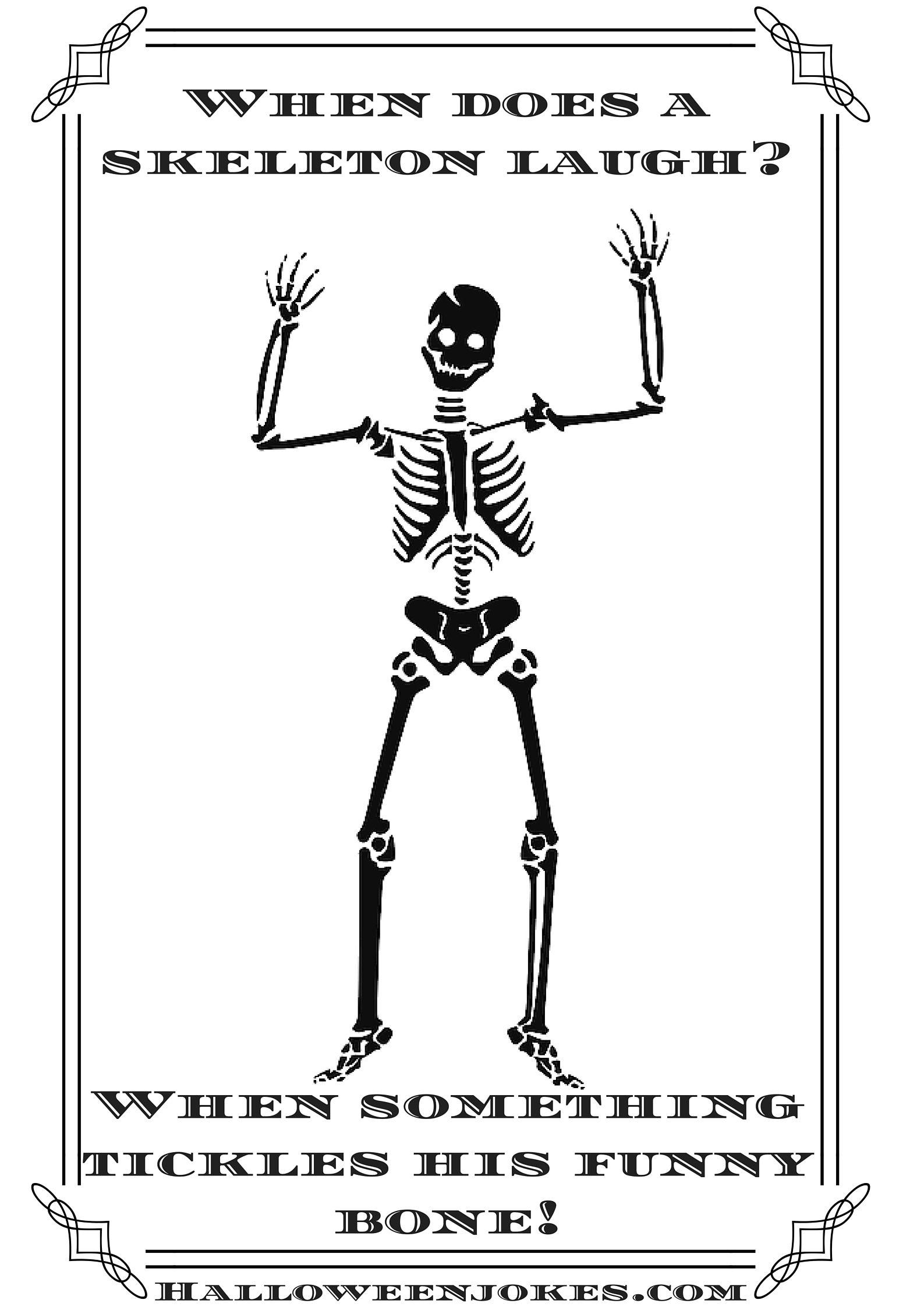 Pin by The Pun-dit on Skeleton Puns | Halloween jokes