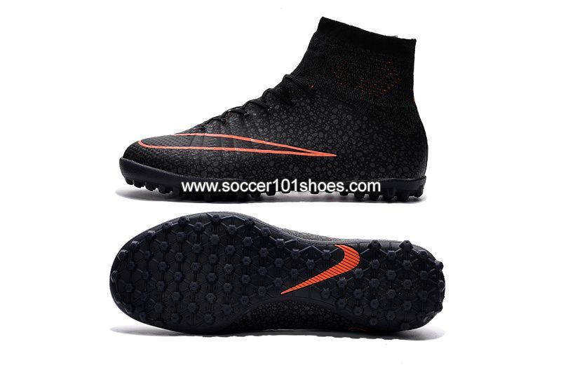 c00d8cbfd ... promo code for nike kids mercurialx proximo street obra tf black hi top football  shoes soccer
