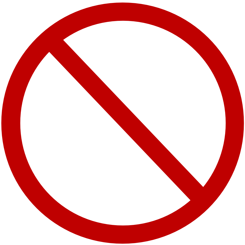 Blank Stop Sign Clipart Nicubunu Denied Sign Png 1000 1000 Circulos Png