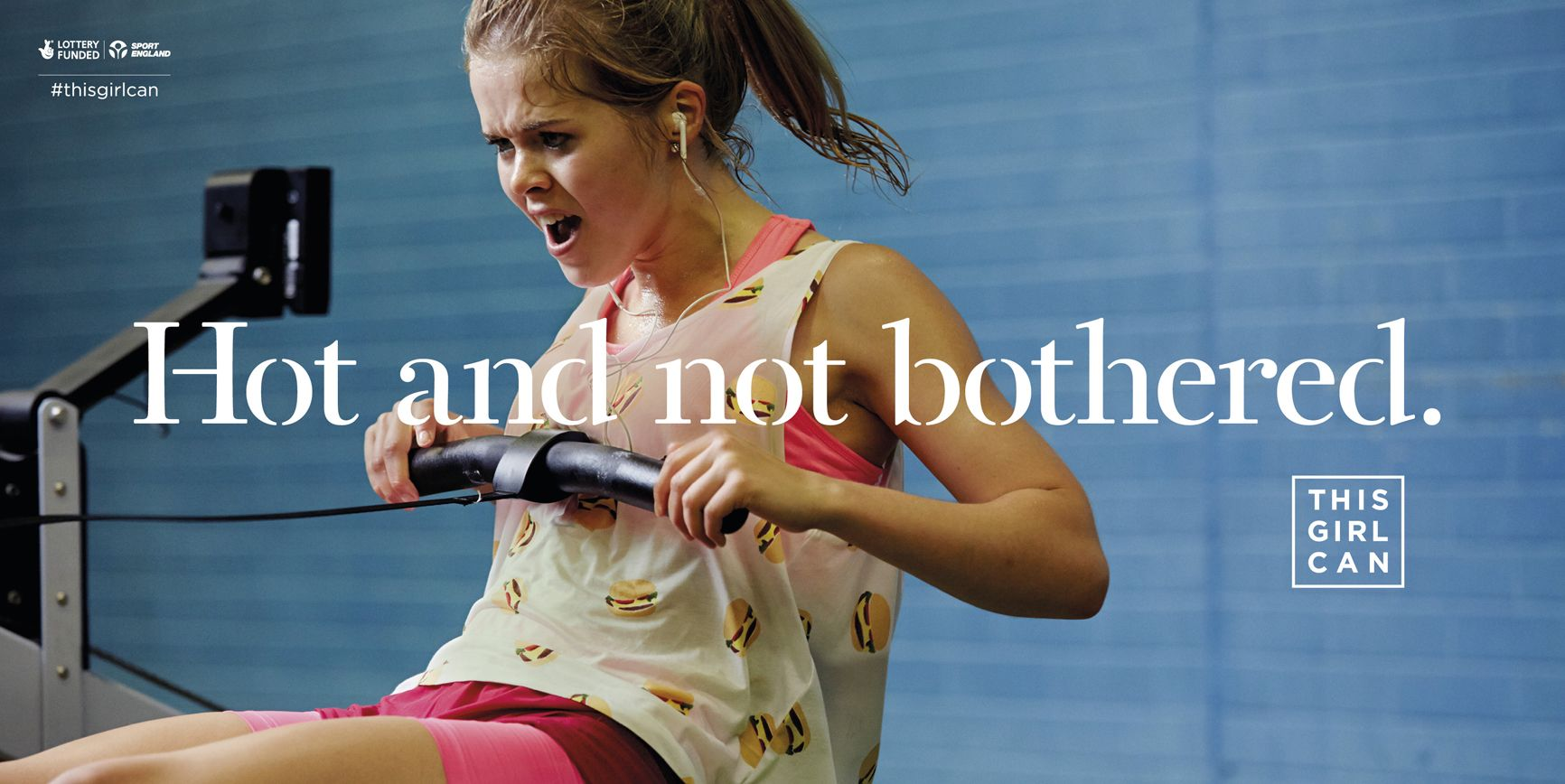 This Girl Can Campaign; Client: Sport England; 48 Sheet Poster; Photographer: Charlie Campbell; Head of Strategy: Vicki Holgate; Senior Strategist: Nic Willison; Managing Director: Sharon Jiggins; Account Director: Hollie Loxley; Copywriter: Simon Cenamor; Art Director: Raymond Chan; Creative Director: Bryn Attewell; Executive Creative Director: Al Young; Agency: FCB Inferno, UK