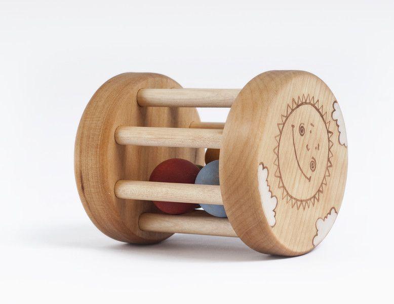 Handgefertigte Holz Baby Rasseln /& Greifling Spielzeug für Kleinkinder 4