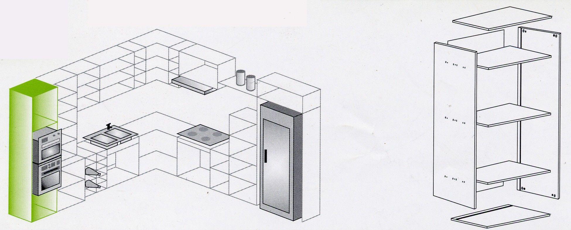 Los muebles de cocina bajos tienen 70cm en altura más lo que ...