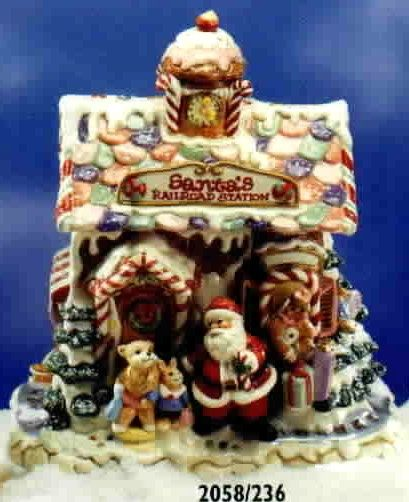 ... EXPRESS  Santa's RR Station Cookie Jar
