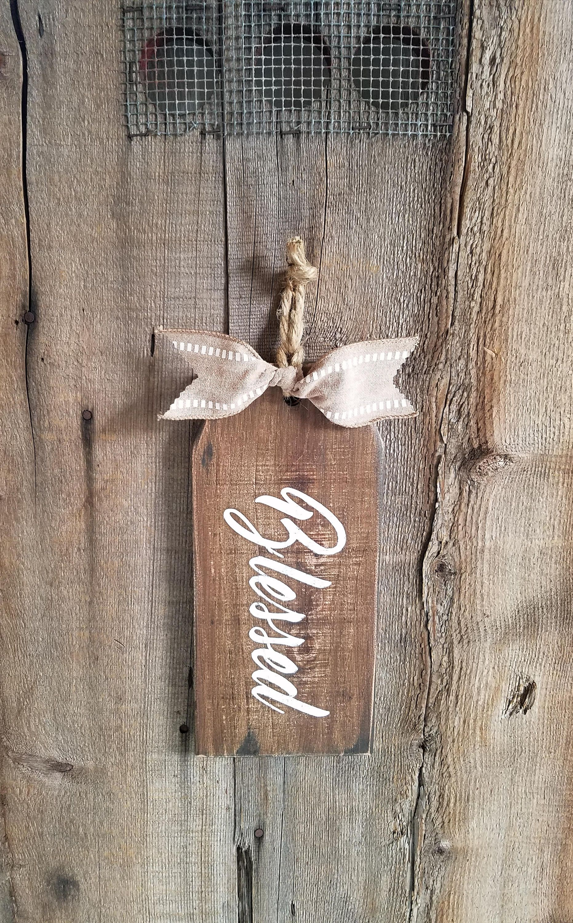 Blessed wood sign rustic blessed sign blessed sign holiday door