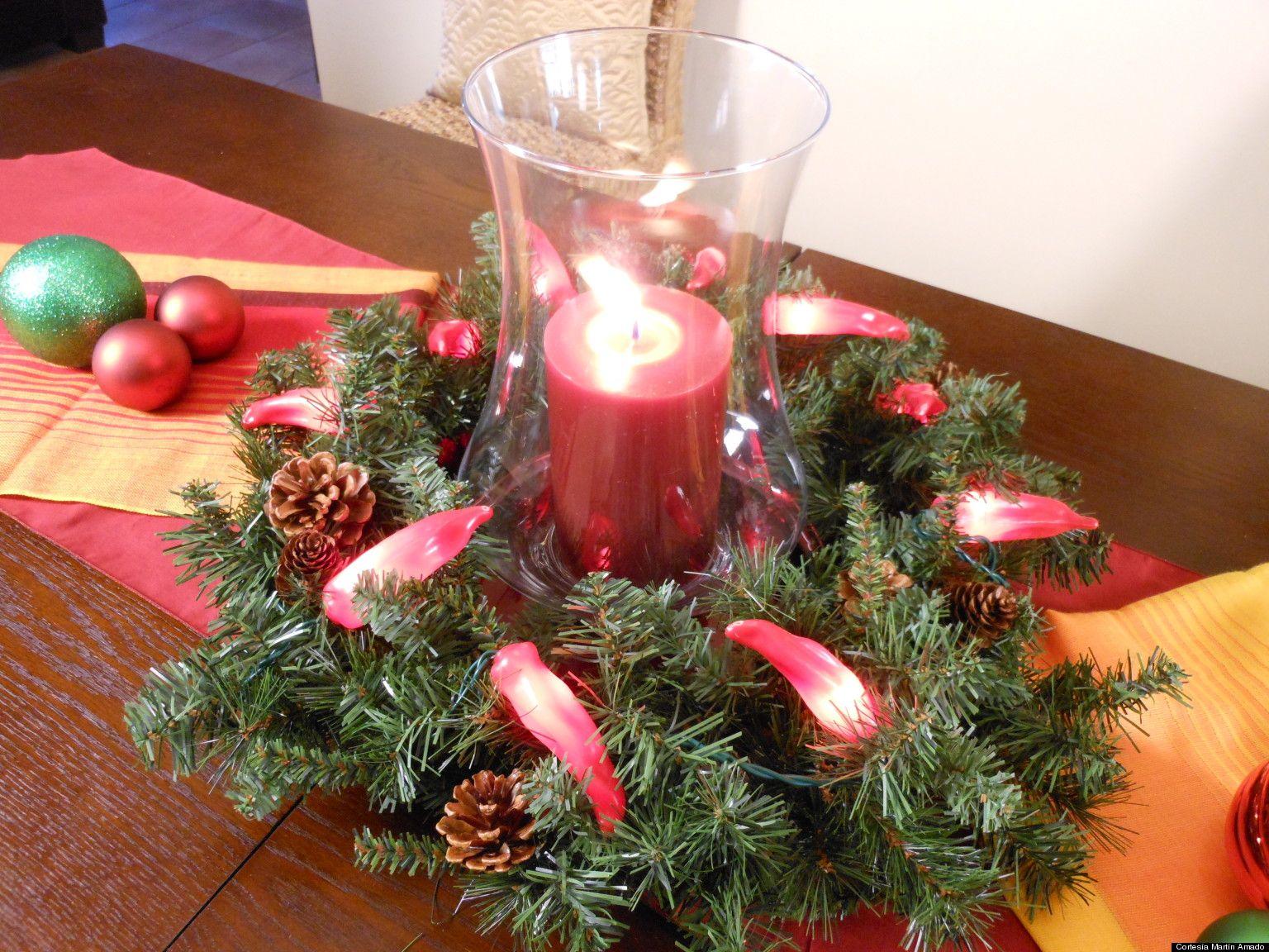 intenta estos centros de mesa tu misma para esta navidad http