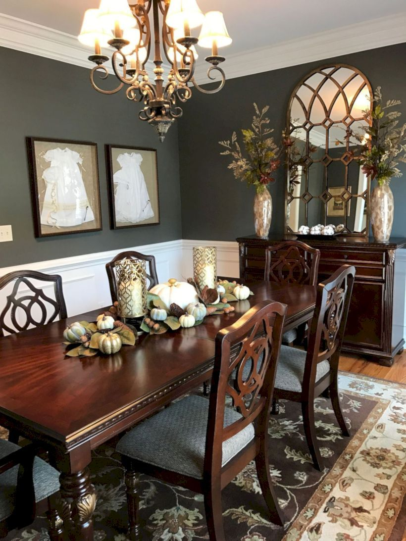 49 Stylish Dining Room Design Ideas Roundecor Elegant Dining Room Dining Room Decor Traditional Dining Room Table Decor