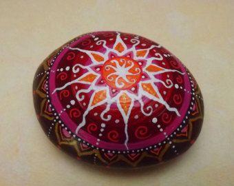 Mandala Stein Briefbeschwerer paperweight Mandala Art