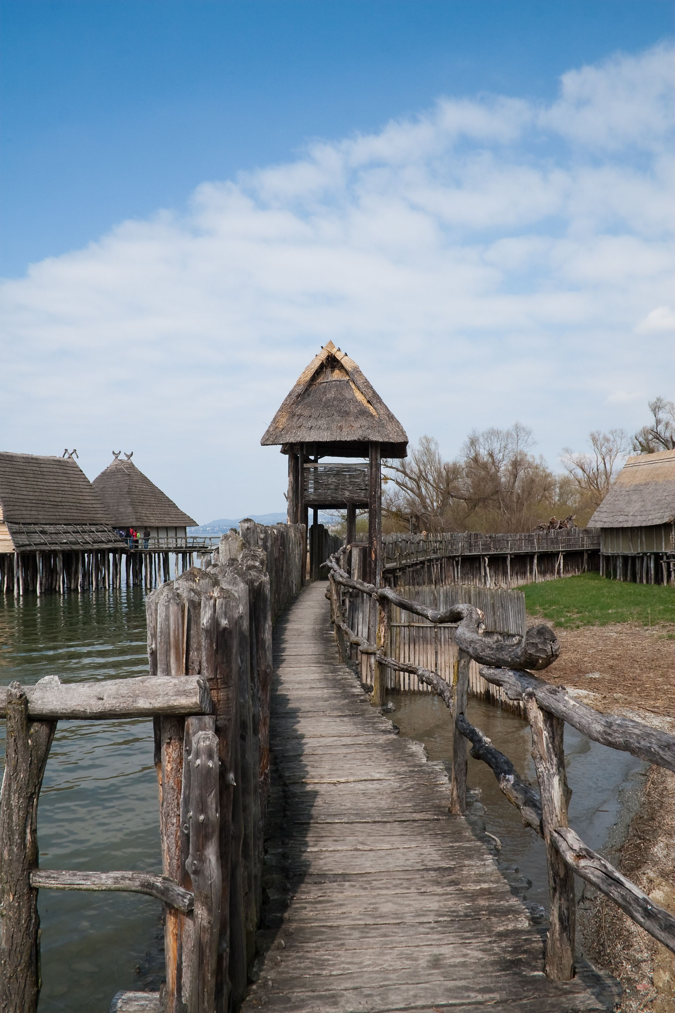 A Reconstruction Of A Neolithic Age Fortified Village