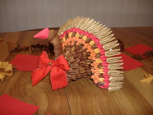 3d Origami Turkey Origami 3d Pinterest Origami 3d Origami And