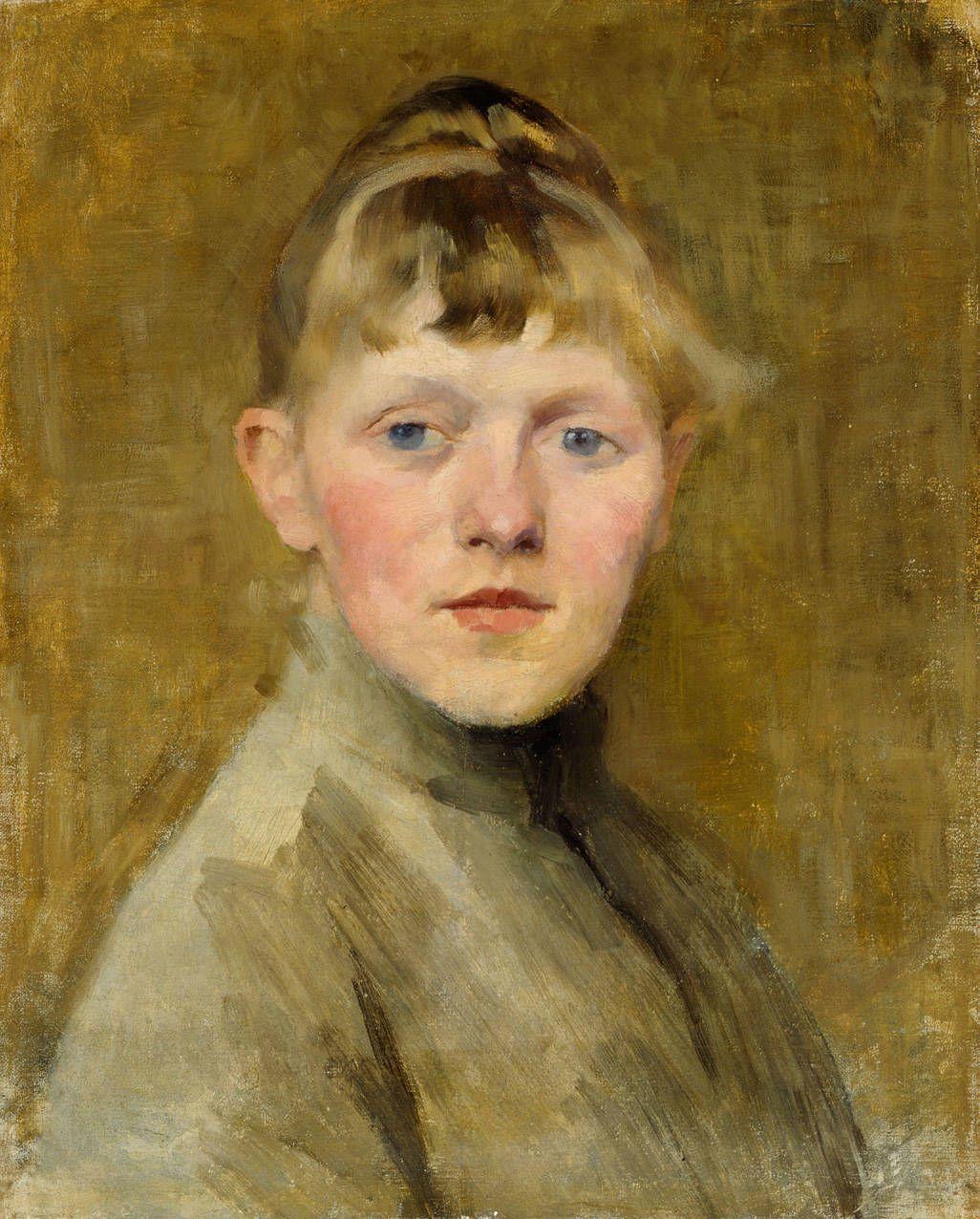 Helene Schjerfbeck 'Selfpotrait' (1862-1946) - Helene Sofia Schjerfbeck (1862-1946) oli suomalainen taidemaalari. Hän on eräs Suomen arvostetuimpia modernistisia kuvataiteilijoita.Hänen teostensa saama huomio on ollut nousussa viime vuosina.