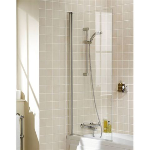 Bathroom Shower Panels square 6mm single panel bath screen silver | bathroom | pinterest