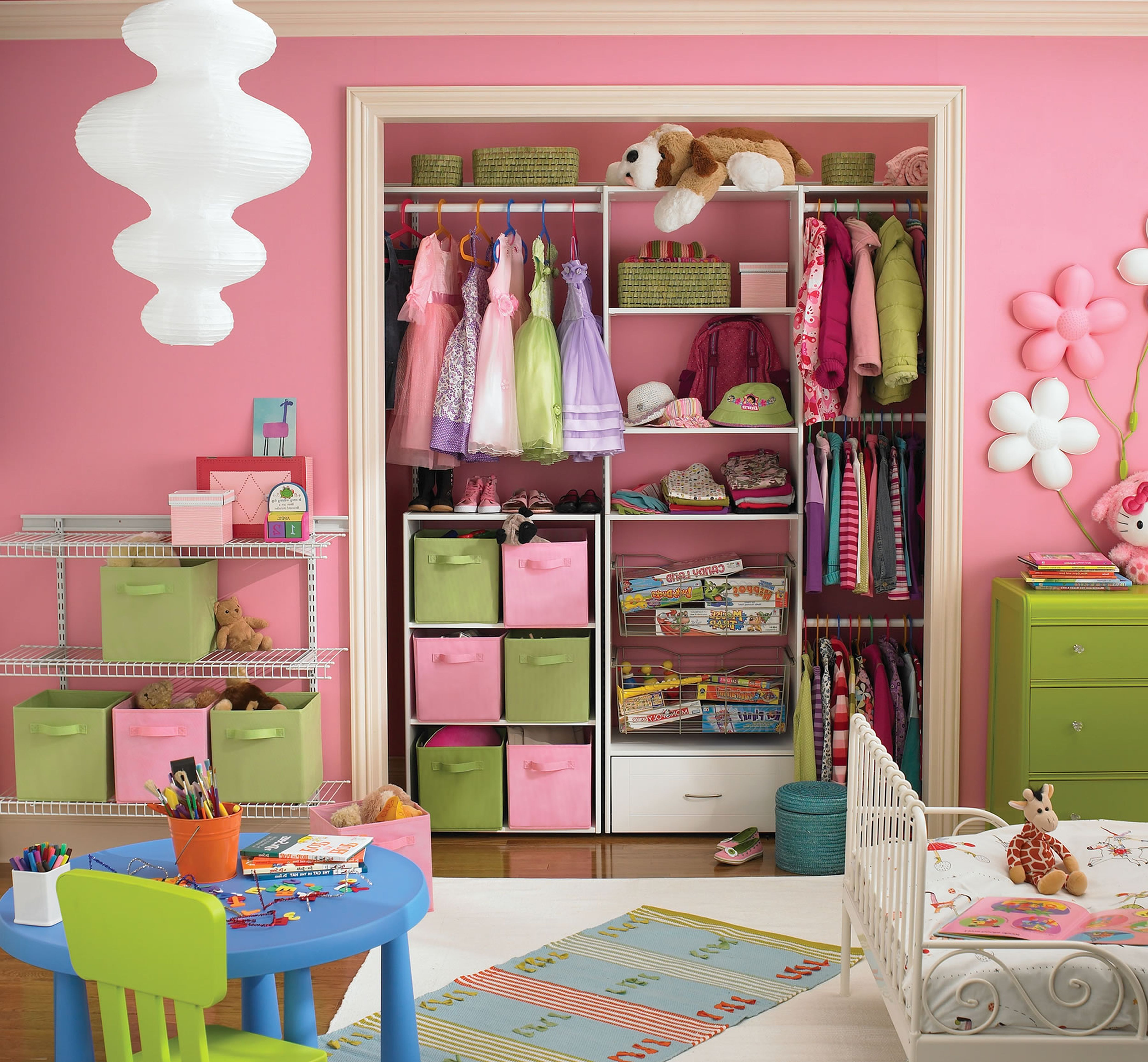 Charmant Small Closet Organization Ideas Bedroom Sweet Small Bedroom Design With  Pink Bright Accent And Lovely Closets