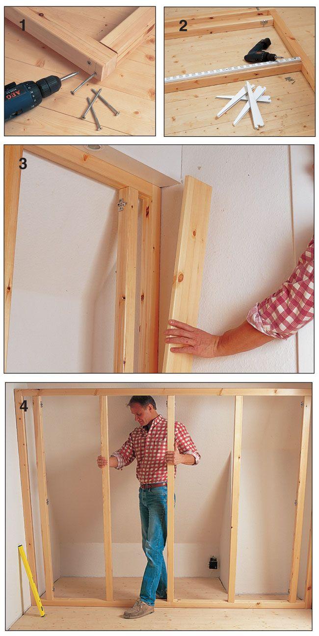 Come Costruire Un Armadio A Muro In Legno.Armadi Per Mansarde Fai Da Te Armadio Mansarda Costruire Un