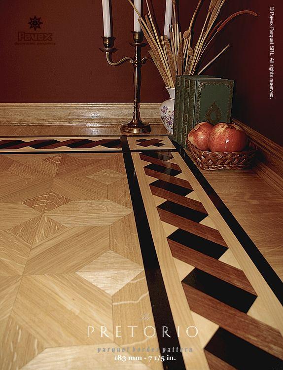 Laminate Floor Inlays : Hardwood floor border the pretorio pattern manufactured