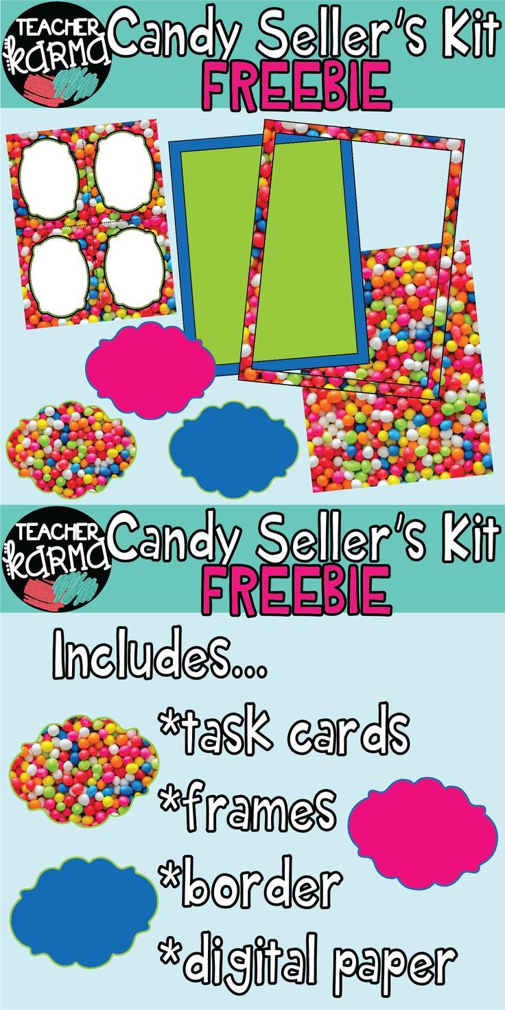 b236b55e9af1 Candy   Bubble Gum Graphics Kit  task card template