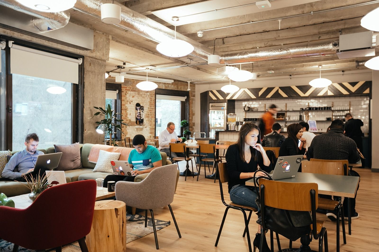 Inside wework s trendy coworking space in devonshire Coworking space design ideas
