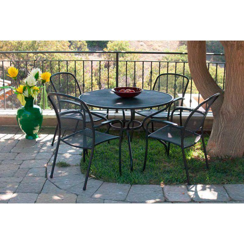Royal Garden Monata Outdoor 42 In Metal Mesh Table Metal Outdoor Table Patio Dining Set Royal Garden