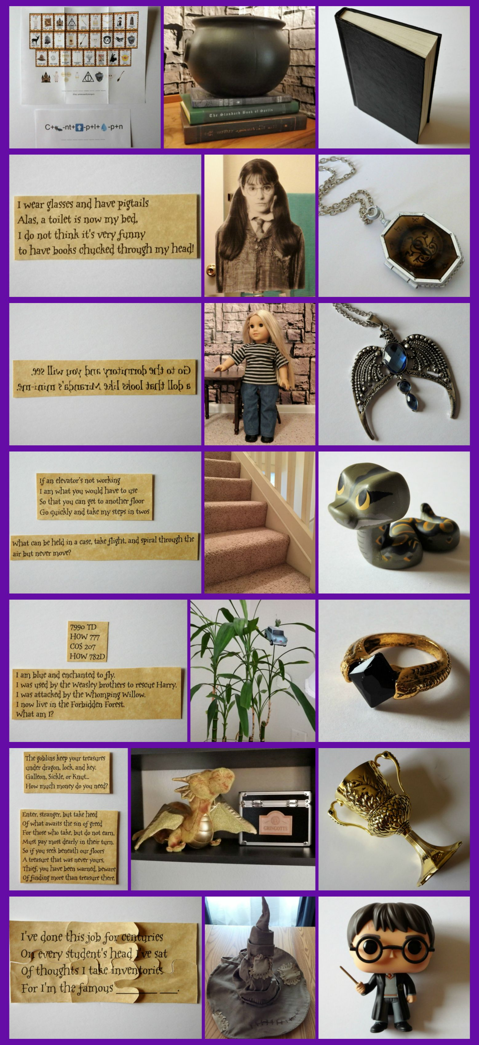 Harry potter inspired activity horcrux hunt with free download instructions and clues additional idea follow the clues and collect all of the horcruxes