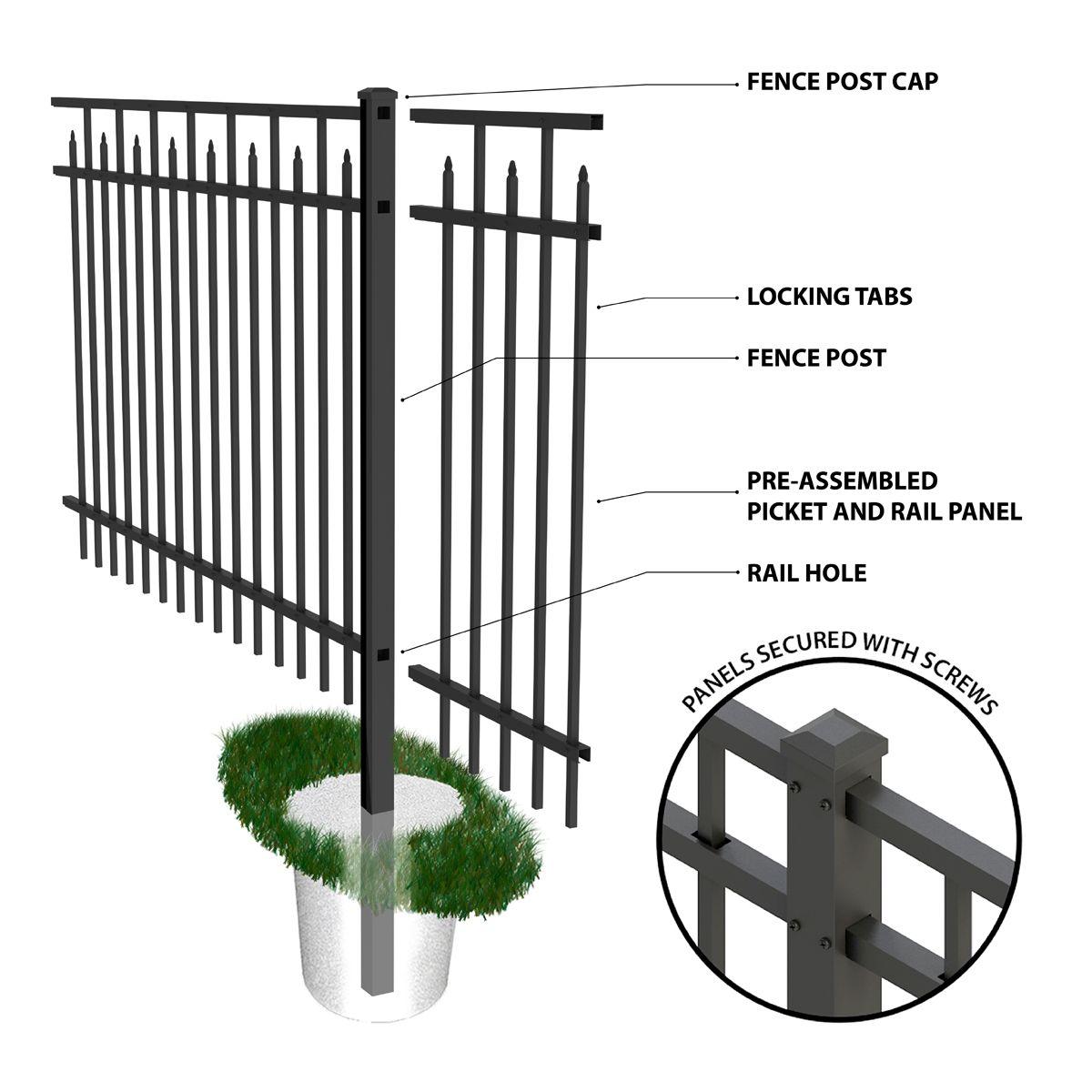 Hampton Fences Residential Fencing Aluminum Fence Systems Fence Fence Design Aluminum Fence