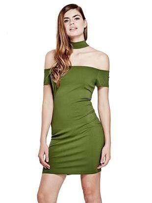 Standards /& Practices Modern Women Tencel Denim Lace Shoulder Collar Tunic Dress